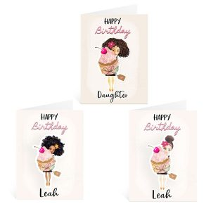 selection of personalised cards